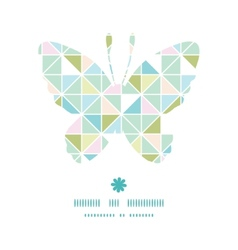 Colorful pastel triangle texture butterfly vector