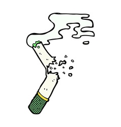 comic cartoon broken marijuana cigarette vector image