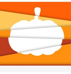 Creative Halloween card Asymmetric pumpkin formed vector