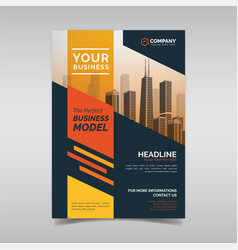 creative modern corporate flyer template vector image