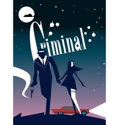 Criminal cinema poster vector image