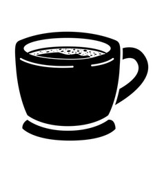 cup of coffee with handle black silhouette vector image