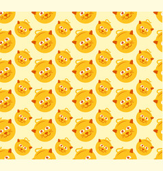 cute cat seamless pattern graphic vector image