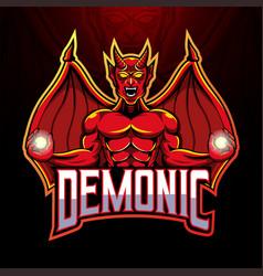 devil mascot logo design vector image