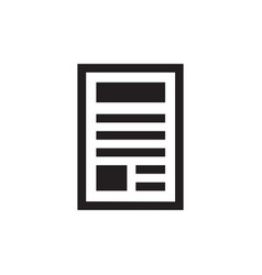 document - black icon on white background vector image