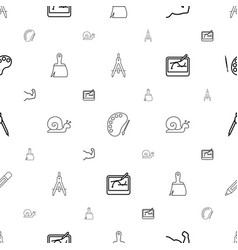 Draw icons pattern seamless white background vector
