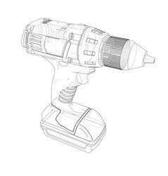 Electric cordless screwdriver vector