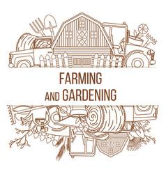 Farming agricultural instruments vector