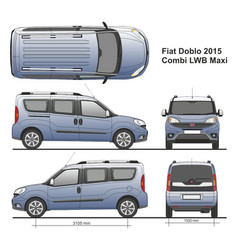 Fiat doblo maxi combi lwb 2015 vector