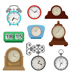 flat set various types on clocks vector image