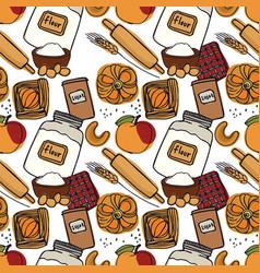 fresh bakery apple desserts seamless pattern vector image