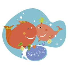 funny fishes vector image