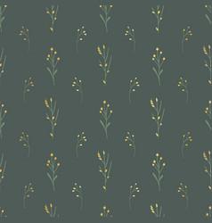 Golden florals seamless background vector