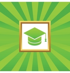 Graduation picture icon vector image