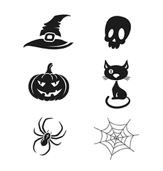 Halloween icons set vector