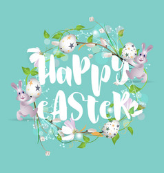 happy easter background 4 vector image