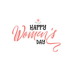 happy women s day minimalist design - badge vector image