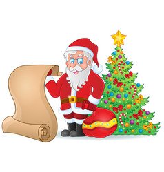 image with santa claus theme 6 vector image