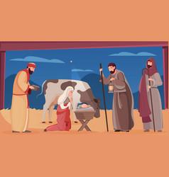 jesus birth vector image
