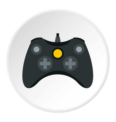 Joystick for playing games icon circle vector