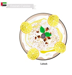 Labneh or Emirati Cream Cheese with Sour Flavor vector