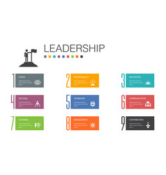 Leadership infographic 10 option line concept vector