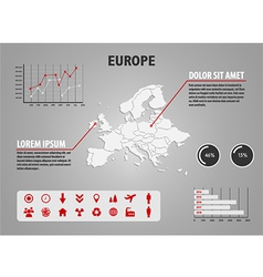 map europe - infographic vector image