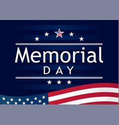 Memorial day navy blue stripes vector
