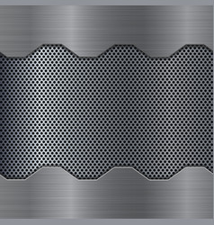 Metal background with perforation vector