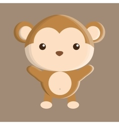 Monkey animal cute little design vector