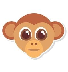 Monkey head face isolated icon vector