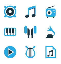Music colored icons set collection of radio vector
