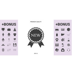 New offer icon with ribbons - graphic elements for vector