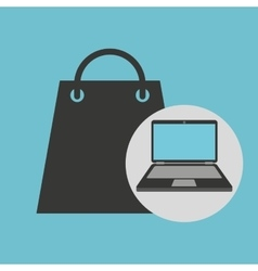 notebook computer gift shopping online vector image