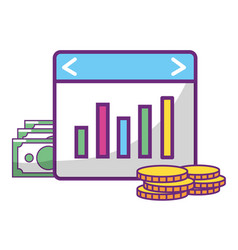 online stock exchange vector image