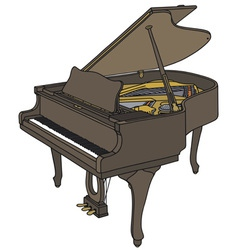 Opened grand piano vector