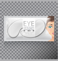 Package of hydrating under eye gel patches vector