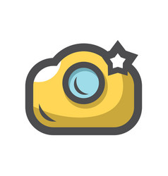 photo camera flash icon cartoon vector image