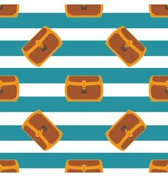 Pirate chest seamless pattern vector image