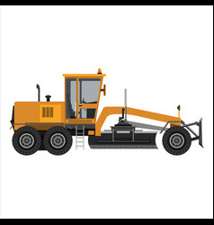 Powerful motor grader vector