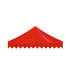 red flag tent icon flat style vector image