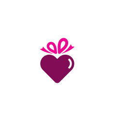 romance gift logo icon design vector image