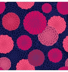 round flowers seamless pattern vector image