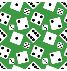 seamless pattern background of lucky dices vector image