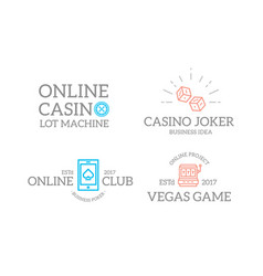 set of retro vintage jackpot slot machine dice vector image