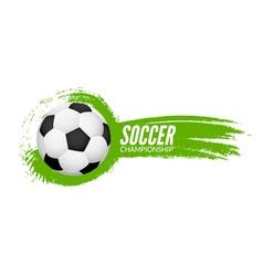 Soccer football poster design template Soccer vector image