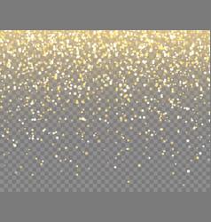 Sparkling golden glitter with bokeh lights vector
