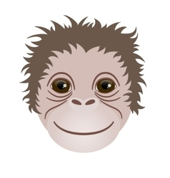 Symbol of 2016 Monkey head vector
