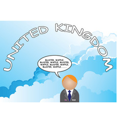 talking nonsense uk clouds vector image