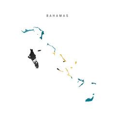 Waving flag map bahamas vector